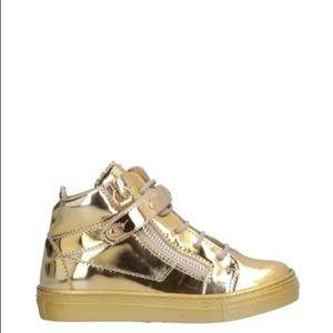 Children's Giuseppe Zanotti Gold Sneakers Size 30